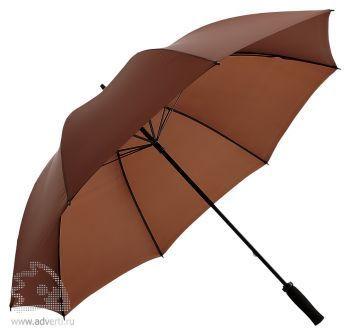Зонт-трость «Jacotte» противоштормовой, механический, коричневый