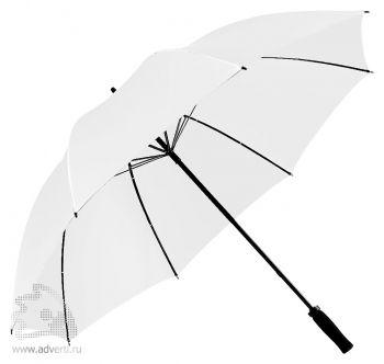 Зонт-трость «Jacotte» противоштормовой, механический, белый