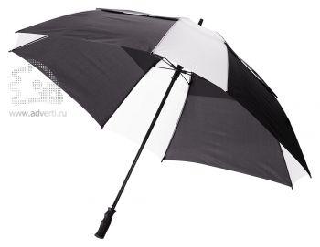 Зонт-трость «Helen», механический, черный с белым