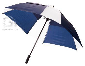 Зонт-трость «Helen», механический, синий с белым