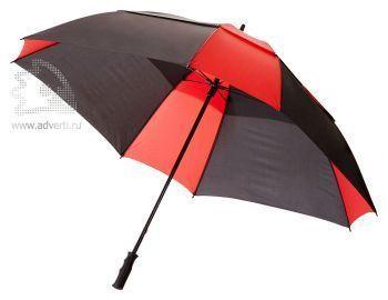 Зонт-трость «Helen», механический, красный с черным