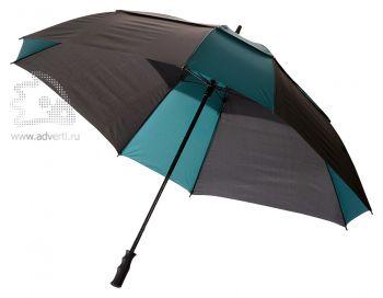 Зонт-трость «Helen», механический, темно-зеленый с черным