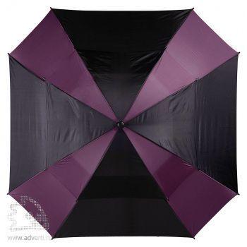Зонт-трость «Helen», механический, фиолетовый с черным, купол