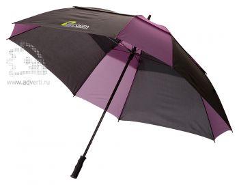 Зонт-трость «Helen», механический, фиолетовый с черным
