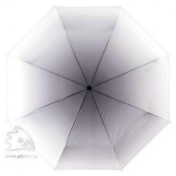 Зонт складной «Shirley», механический, 2 сложения, черный с белым, купол