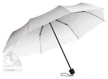 Зонт складной «Shirley», механический, 2 сложения, черный с белым