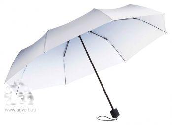 Зонт складной «Shirley», механический, 2 сложения, синий с белым