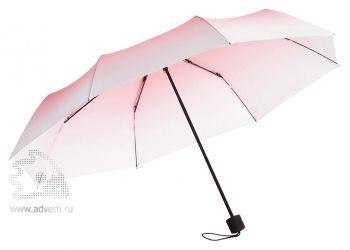 Зонт складной «Shirley», механический, 2 сложения, красный с белым