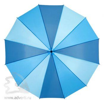 Зонт-трость «Melchiorre», полуавтомат, синий, купол