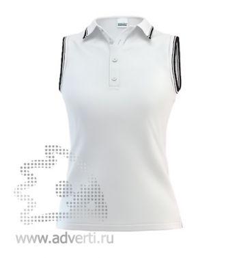 Рубашка поло «Stan Hot W», женская, белая с черным