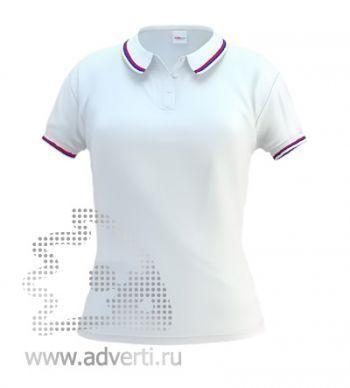 Рубашка поло «Stan Russian W», женская, белая