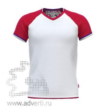 Футболка «Moscow Style», мужская, белая с красным