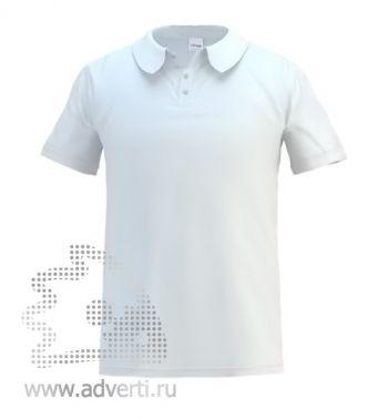 Рубашка поло под сублимацию «Stan Poly», мужская, белая