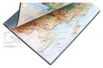 Бизнес тетради «Россия» A4, физическая карта России