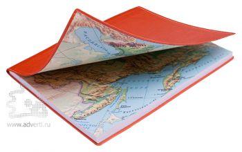 Бизнес тетради «Россия» A5, физическая карта России