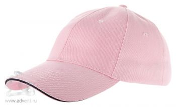 Бейсболка «Challenge-1», розовая с темно-синим