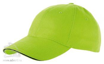 Бейсболка «Challenge-1», светло-зеленая с темно-синим