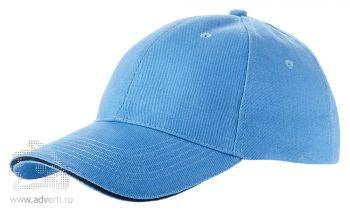 Бейсболка «Challenge-1», голубая с темно-синим