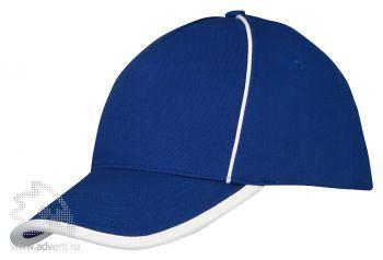 Бейсболка «Ленекса» с контрастными деталями, синий/неокрашенный