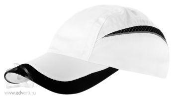 Бейсболка «Qualifie», белая с черным