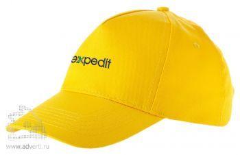 Бейсболка «Memphis», светло-желтая