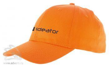 Бейсболка «Detroit», оранжевая