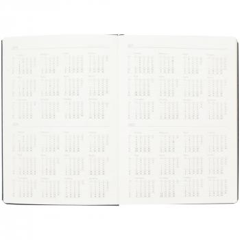 Ежедневник Saffian, недатированный, А5, черный, открытый на календаре