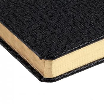 Ежедневник Saffian, недатированный, А5, черный, обрез