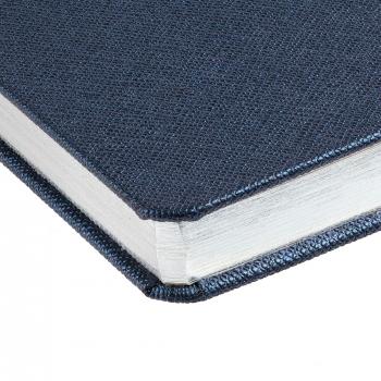 Ежедневник Saffian, недатированный, А5, синий, обрез