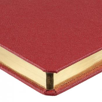 Ежедневник Saffian, недатированный, А5, красный, обрез
