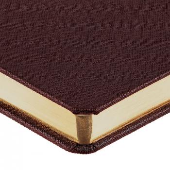 Ежедневник Saffian, недатированный, А5, коричневый, обрез