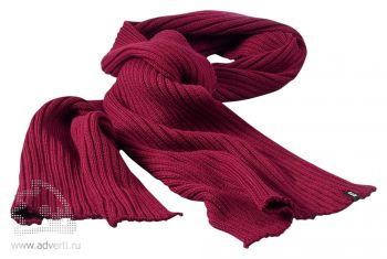 Шарф «Broach», бордовый