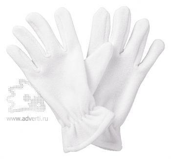 Перчатки флисовые «Buffalo», белые
