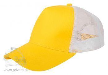 Бейсболка «Mesh», желтая