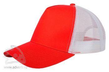 Бейсболка «Mesh», красная