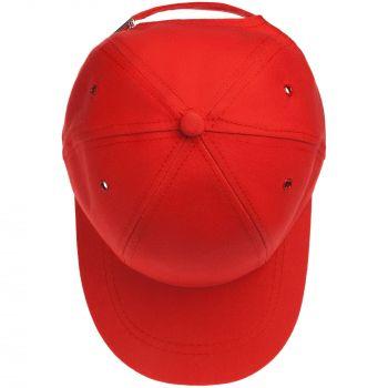 Бейсболка «Bizbolka Capture Kids», детская, красная, вид сверху