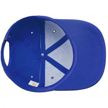 Бейсболка «Bizbolka Capture», ярко-синяя, вид изнутри