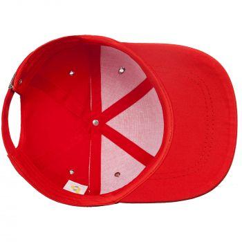 Бейсболка «Bizbolka Capture», красная, вид изнутри