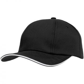 Бейсболка «Bizbolka Canopy», чёрная с белым