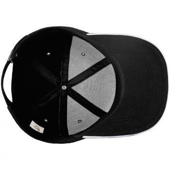Бейсболка «Bizbolka Canopy», чёрная с белым, вид изнутри
