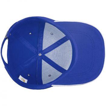 Бейсболка «Bizbolka Canopy», ярко-синяя с белым, вид изнутри