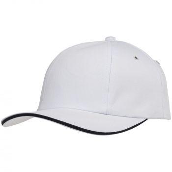 Бейсболка «Bizbolka Canopy», белая с тёмно-синим