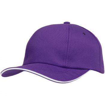 Бейсболка «Bizbolka Canopy», фиолетовая с белым