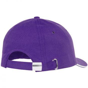 Бейсболка «Bizbolka Canopy», фиолетовая с белым, вид сзади