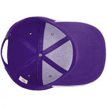 Бейсболка «Bizbolka Canopy», фиолетовая с белым, вид изнутри