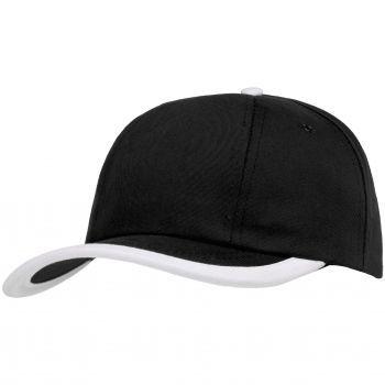 Бейсболка «Bizbolka Honor», чёрная с белым