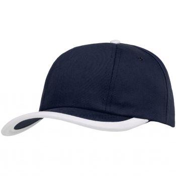 Бейсболка «Bizbolka Honor», тёмно-синяя с белым