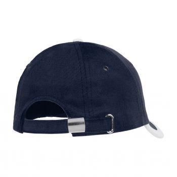 Бейсболка «Bizbolka Honor», тёмно-синяя с белым, вид сзади