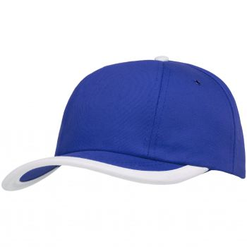 Бейсболка «Bizbolka Honor», ярко-синяя с белым