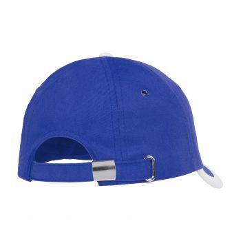 Бейсболка «Bizbolka Honor», ярко-синяя с белым, вид сзади